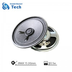 Mini speaker parts 66mm 8ohm 5w loudspeaker