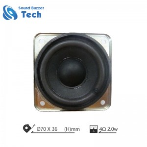 Full range loudspeaker for Multimedia speaker 2.5 inch speaker 4 ohm 2 watts