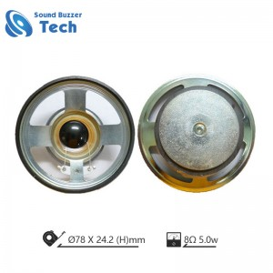 3 inch loudspeaker unit 78mm 8ohm 5w waterproof speaker
