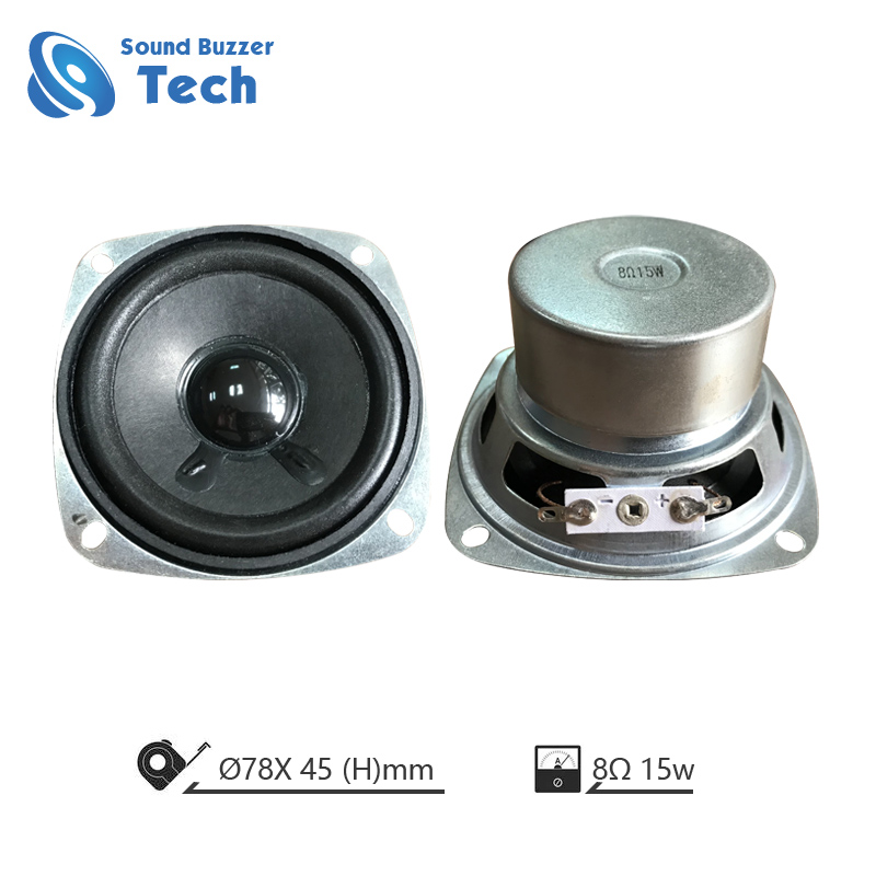 Full range speaker driver 3 inch 8 ohm 15 watt for high-end blue tooth sound box Featured Image
