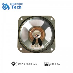 3.5 inch waterproof speakers 87mm 45ohm 1w loudspeaker