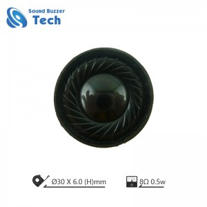 Best bass sound speaker for headphone 30mm mini speaker 8ohm 0.5 watt