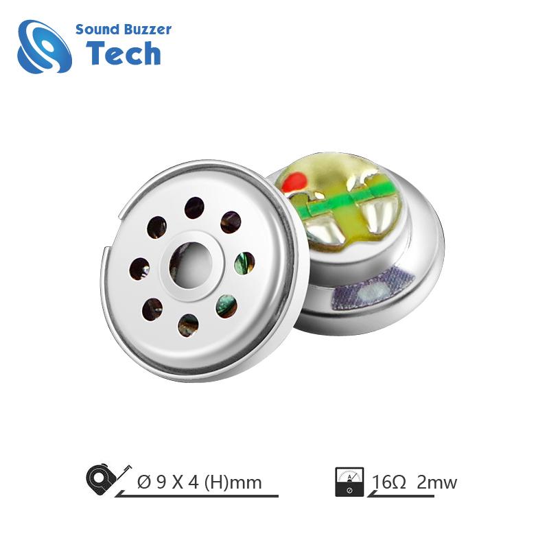 Full frequency headphone speaker parts 9mm 16ohm 0.03 watt headset loudspeaker unit Featured Image