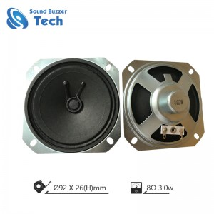 High sound quality 2.5 inch loudspeker unit 92mm 8ohm 3watt speaker
