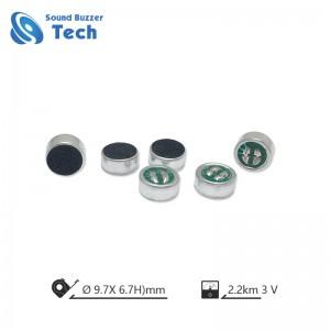 9.7*6.7mm Electret Condenser Microphone unit