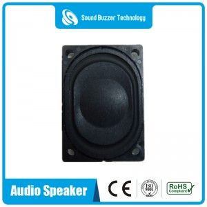 Full range music speaker 28*40MM with housing 8ohm 3w
