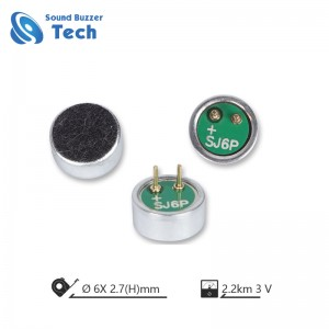 6.0*2.7mm Inner Condenser Microphone unit ( MIC6027)