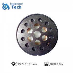 Best-selling mylar cone loudspeaker for headset 27mm speaker drive 100 ohm