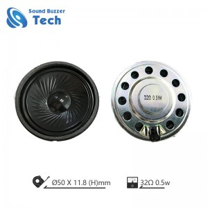 High end 50mm headphone driver 32 ohm 0.5 watt micro dynamic speaker