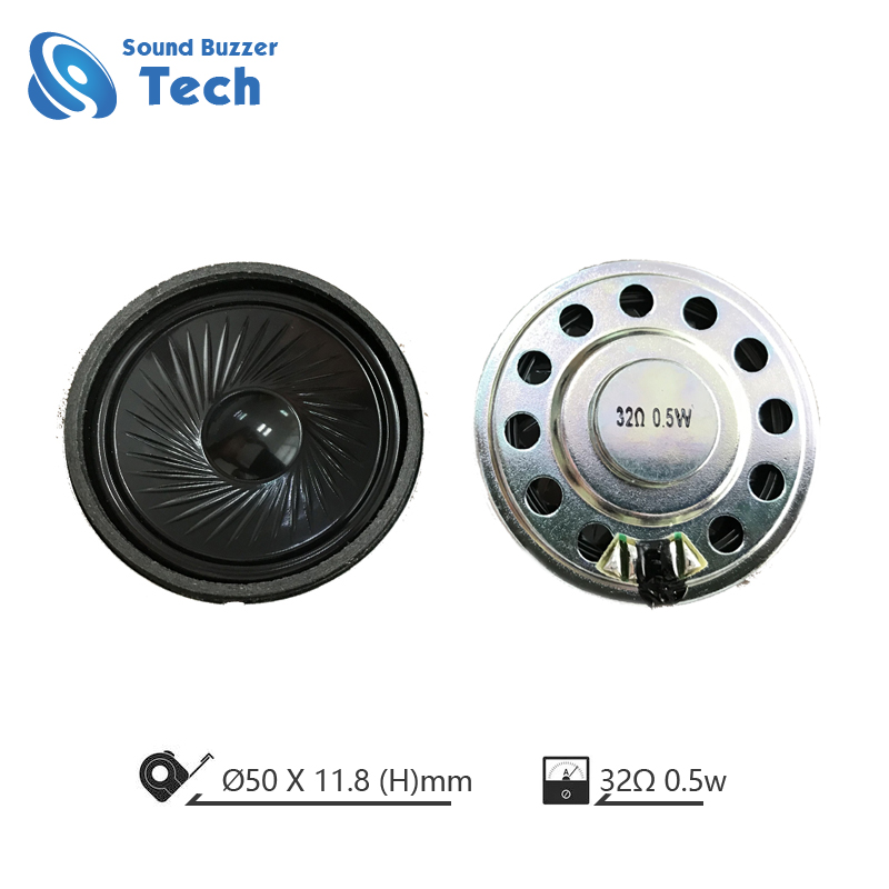 High end 50mm headphone driver 32 ohm 0.5 watt micro dynamic speaker Featured Image