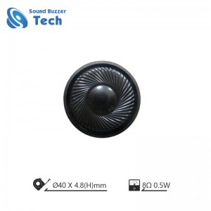 Wholesale price speaker 40mm 8ohm 1W Mounting Holes Speaker
