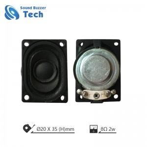Good sound Media loudspeaker 20x35mm 8ohm 2watt speaker driver